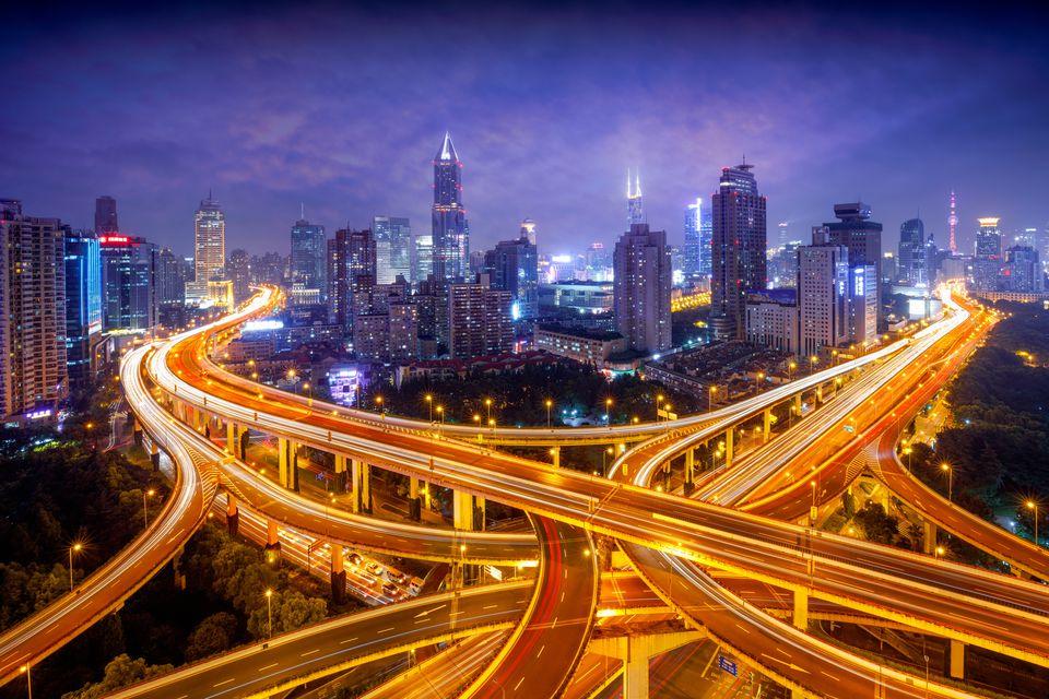 Transportation in Asia: Shanghai roads