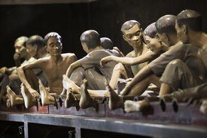 Prisoner diorama at Hoa Lo Prison (