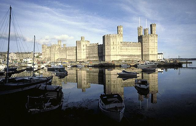 Caernarfon Castle and Harbor