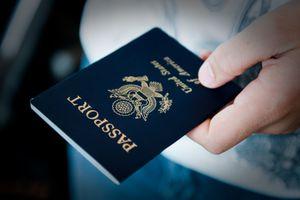 Close-Up Of Man Holding Passport
