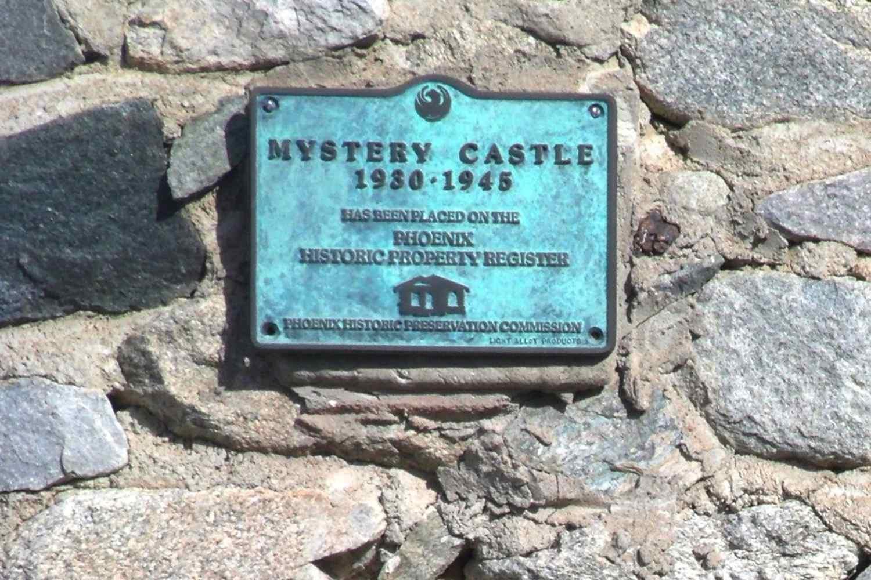 Mystery castle phoenix plaque