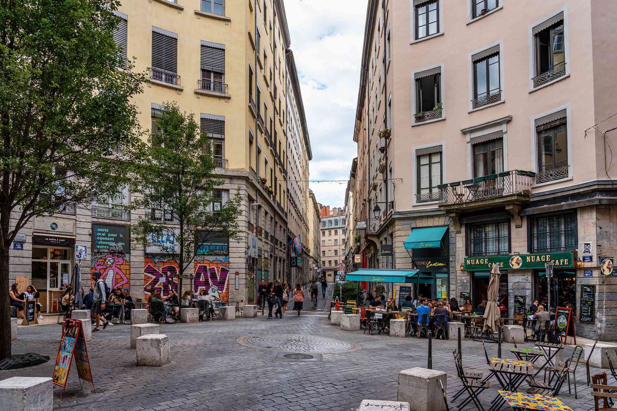 A square in the Croix-Rousse district, Lyon