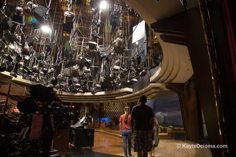 Walking onto a talk show soundstage on the Warner Bros Studio Tour Hollywood