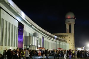 Rave at Tempelhof in Berlin