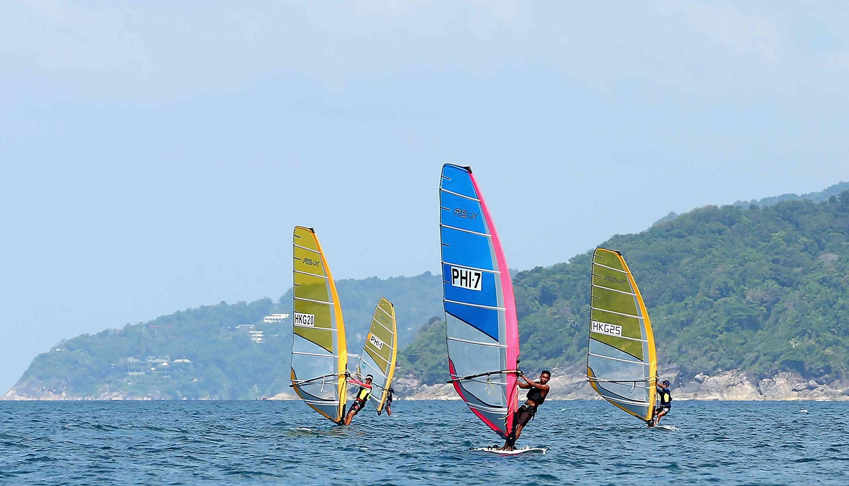 Windsurfing competition off Karon Beach, Phuket