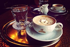 Typical Viennese style coffee in Vienna, Austria
