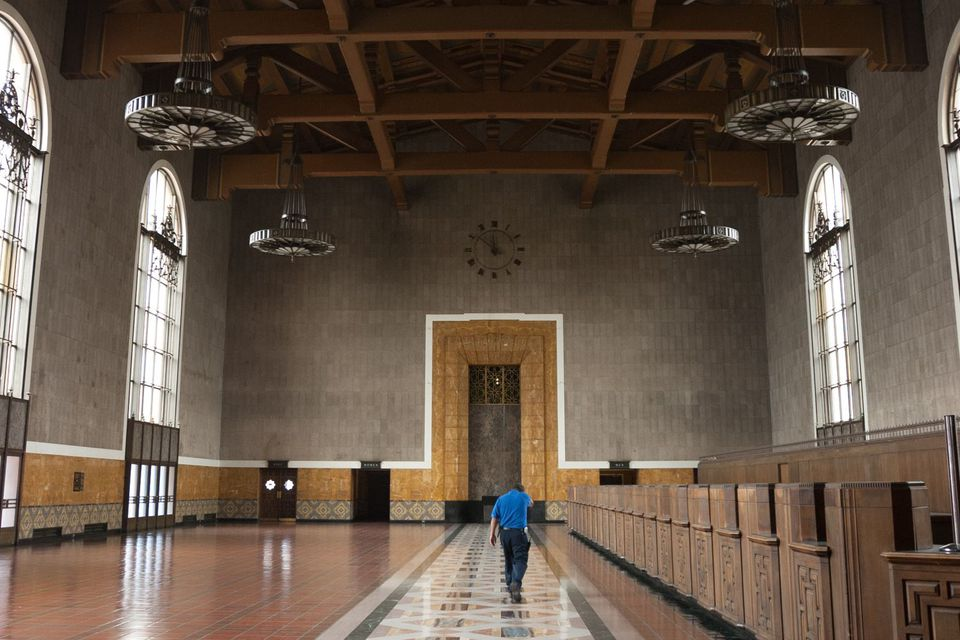 Inside Union Station in Los Angeles
