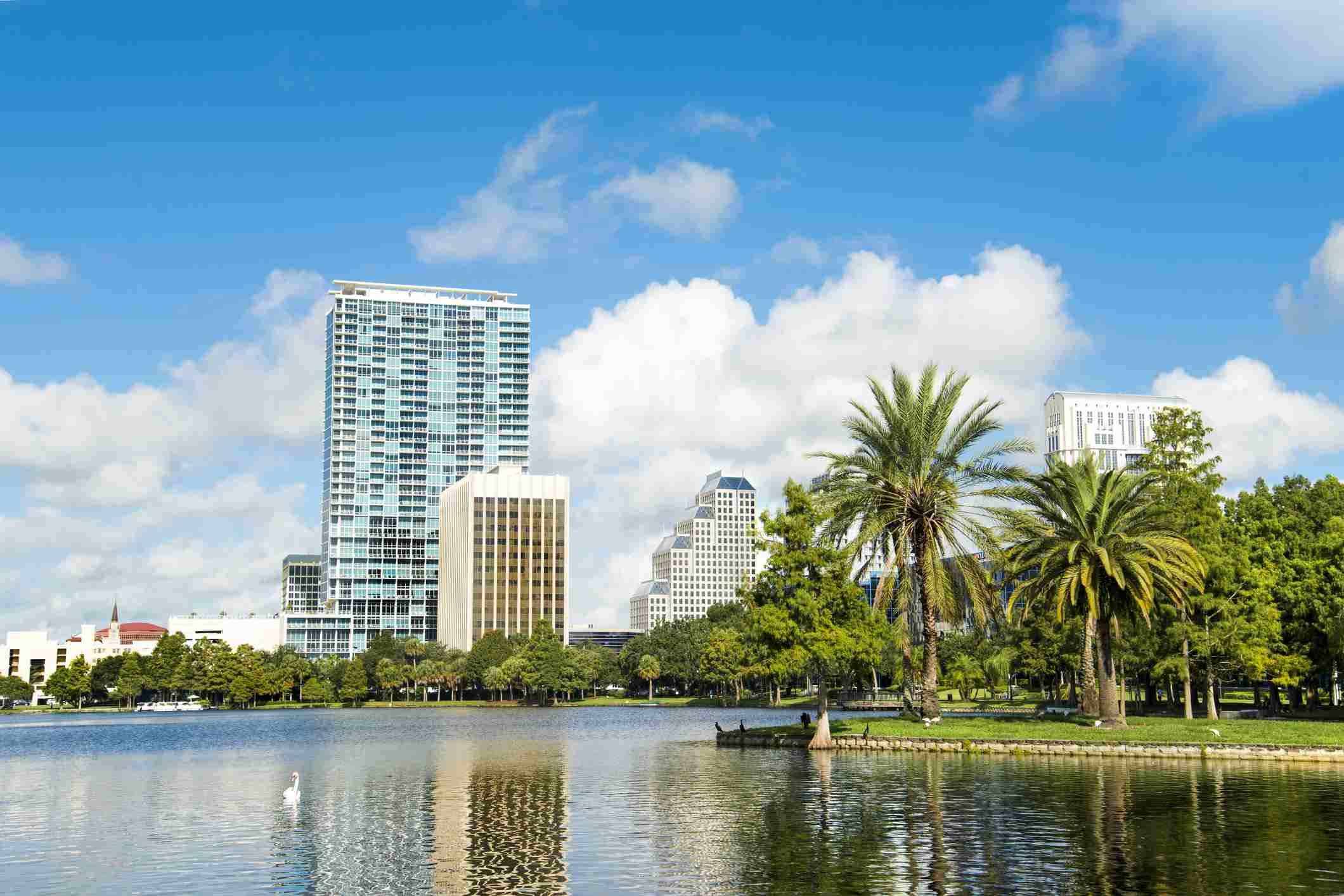 Vista al lago de Orlando Florida