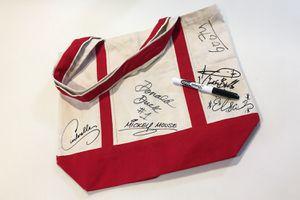 Disneyland Autographs on a Canvas Bag