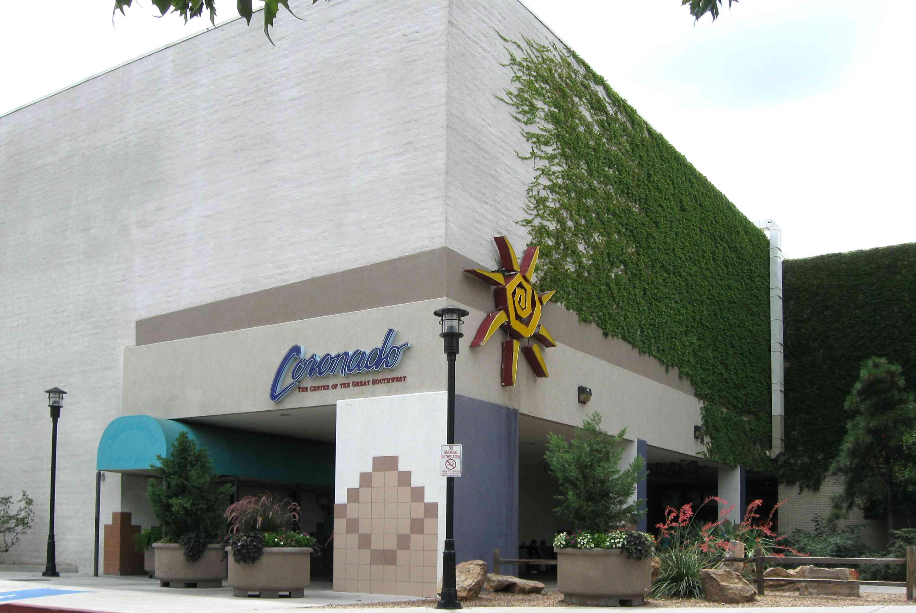 exteriror of coronado center