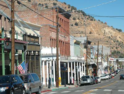 Buildings along the main street through Virginia City, Nevada