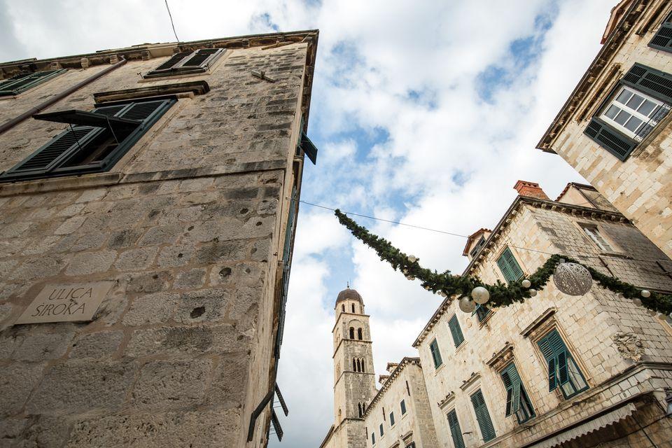 Christmas in Old Town in Dubrovnik, Croatia
