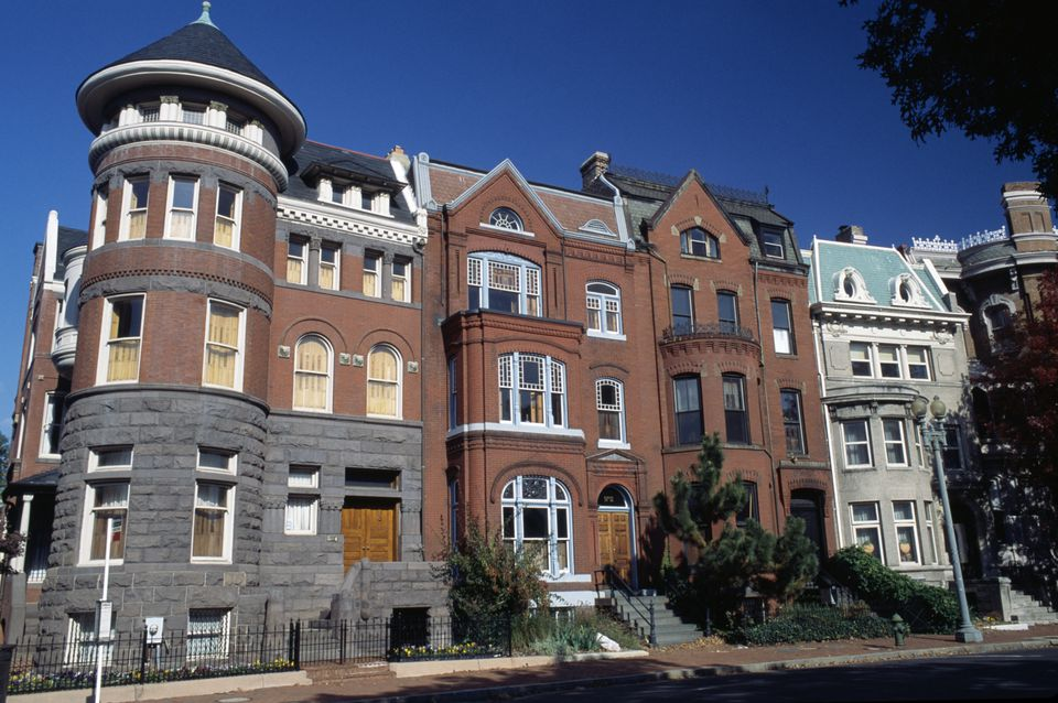 19th century residences, Logan Circle historic district, Washington DC, District of Columbia, USA