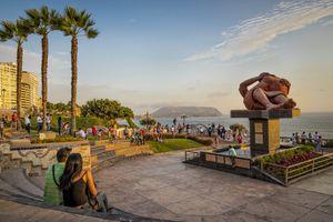 El Malecon park in Miraflores, Lima, Peru