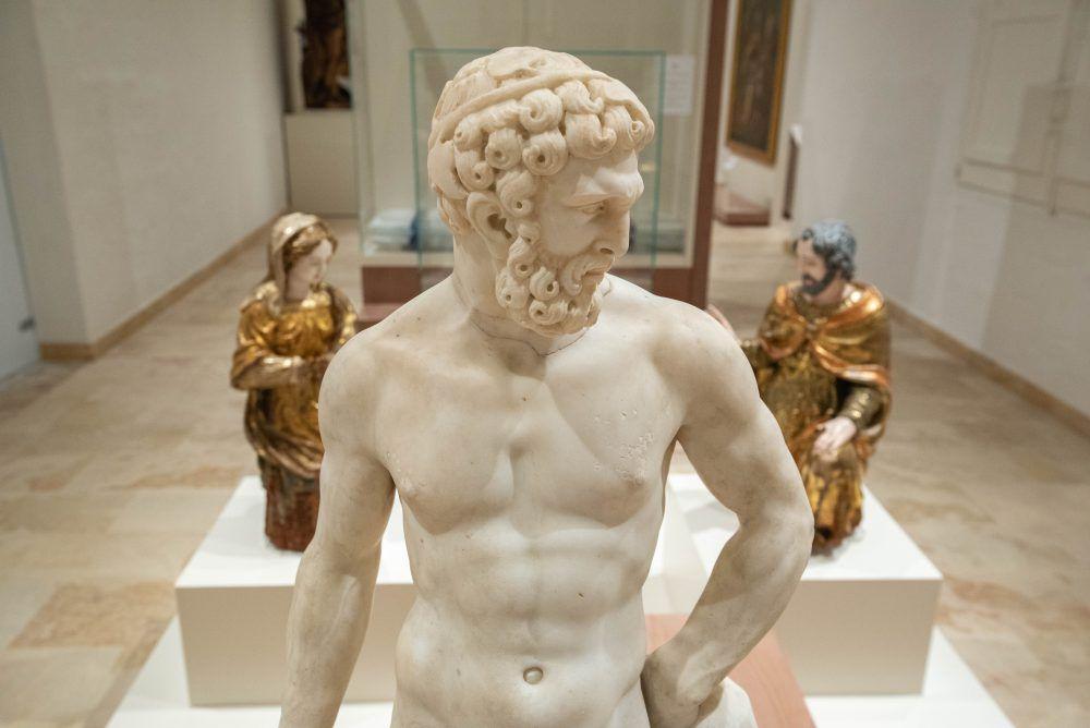 Sculptures in MUZA, National Museum of Fine Arts, Malta