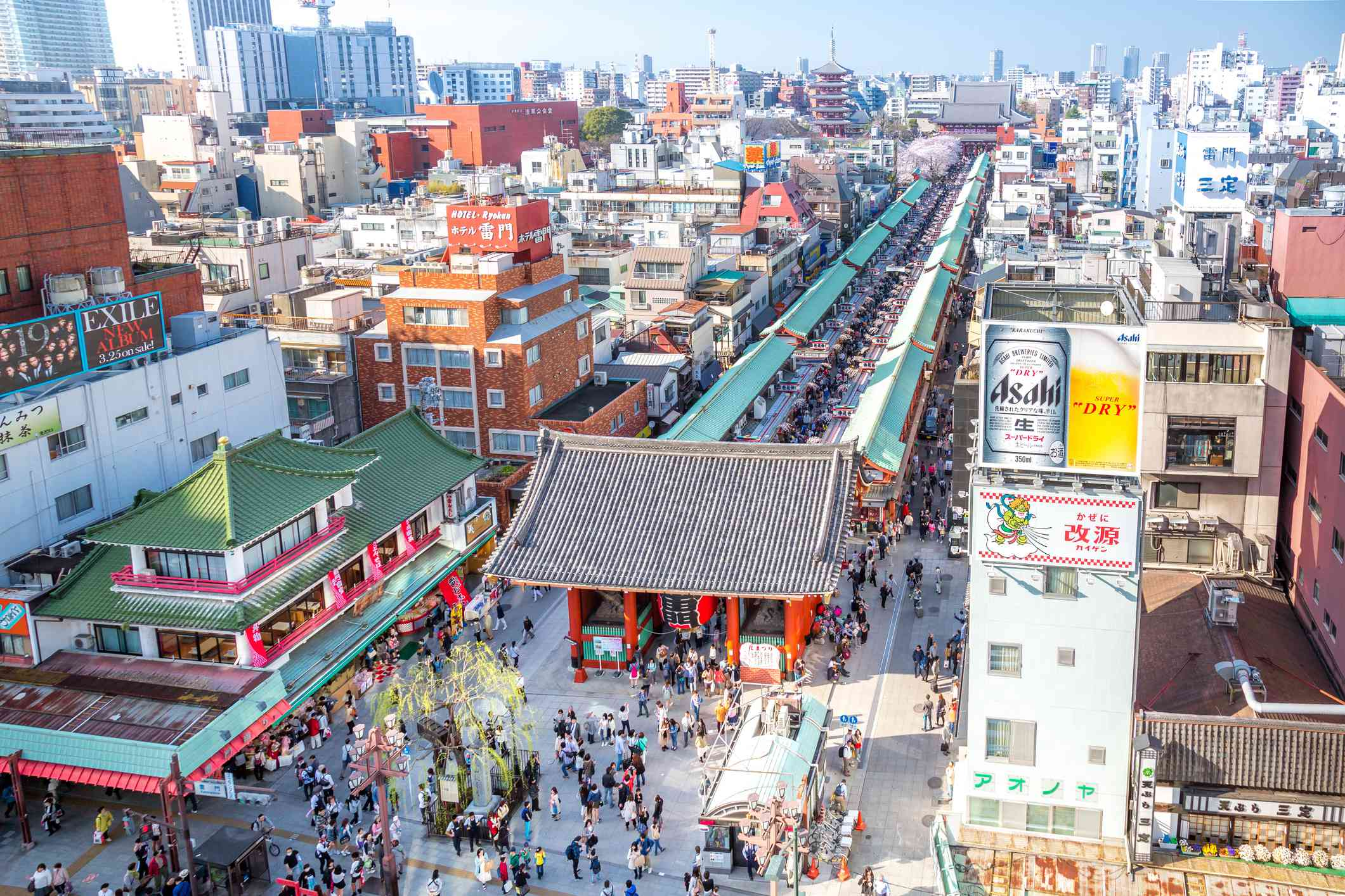 Sensouji Nakmise market at Asakusa