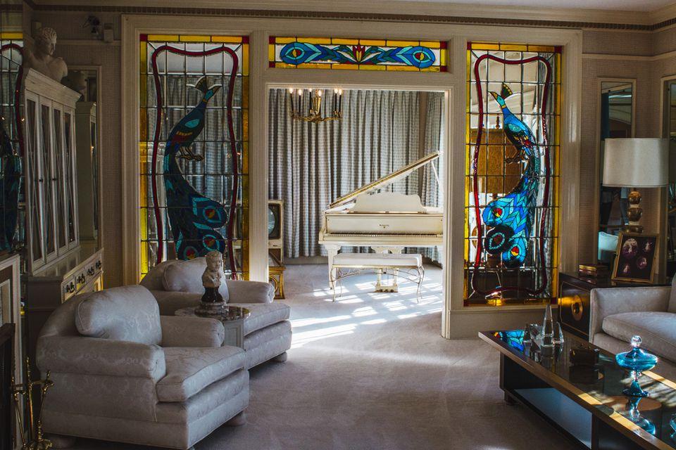 Inside Elivs' house at Graceland