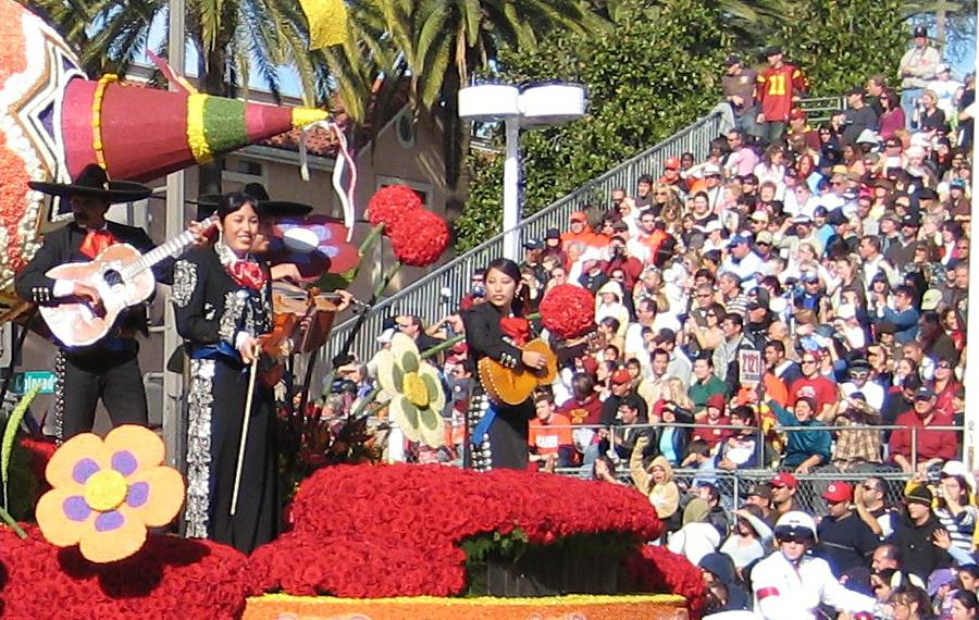 The Rose Parade in Pasadena