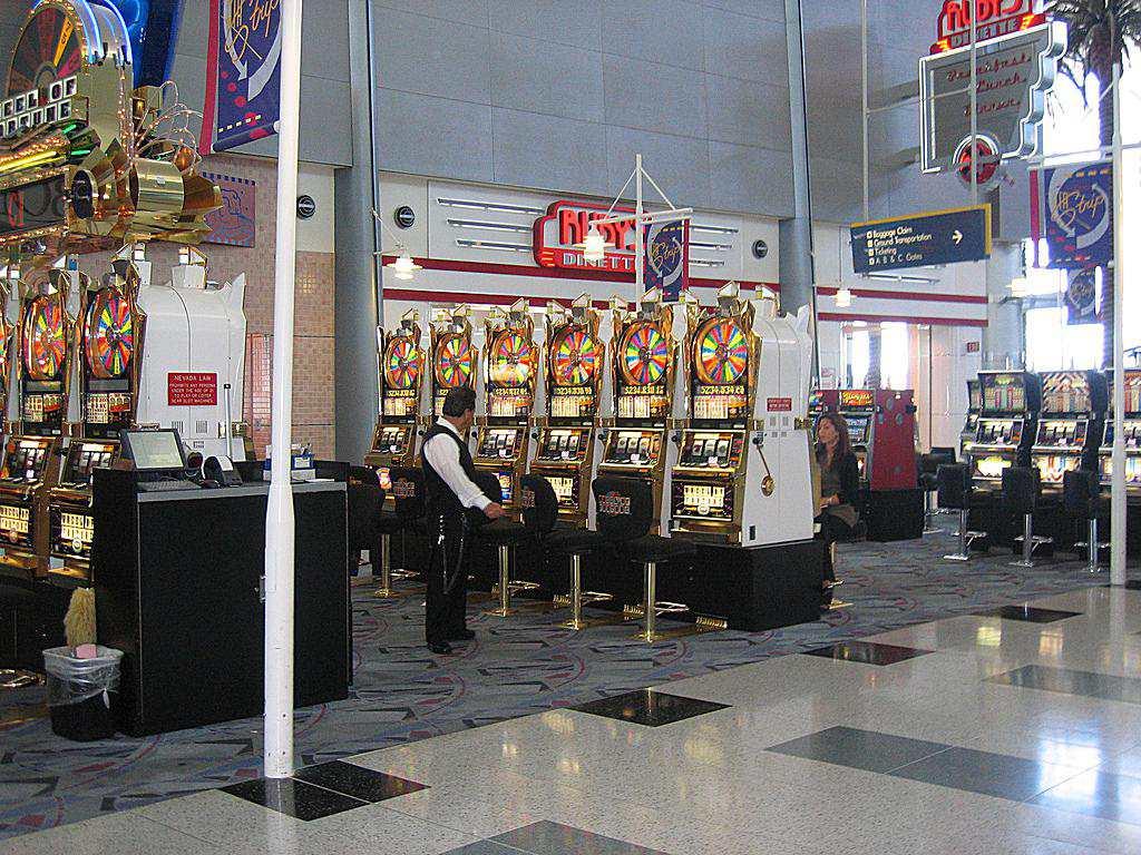 Slot machines at Las Vegas' McCarran International Airport