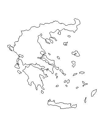 Ancient Greece Map Outline.Map Of Greece A Basic Map Of Greece And The Greek Isles