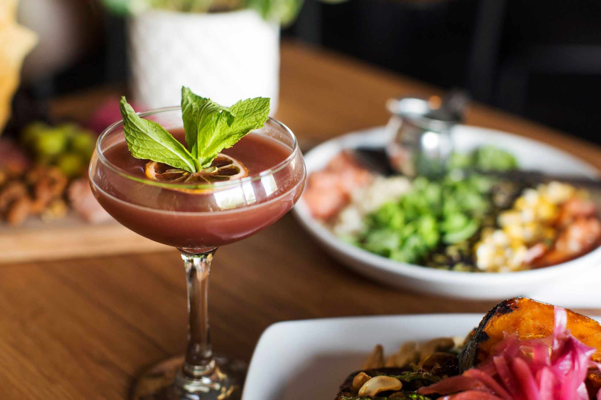 Food and cocktails at The Gladly