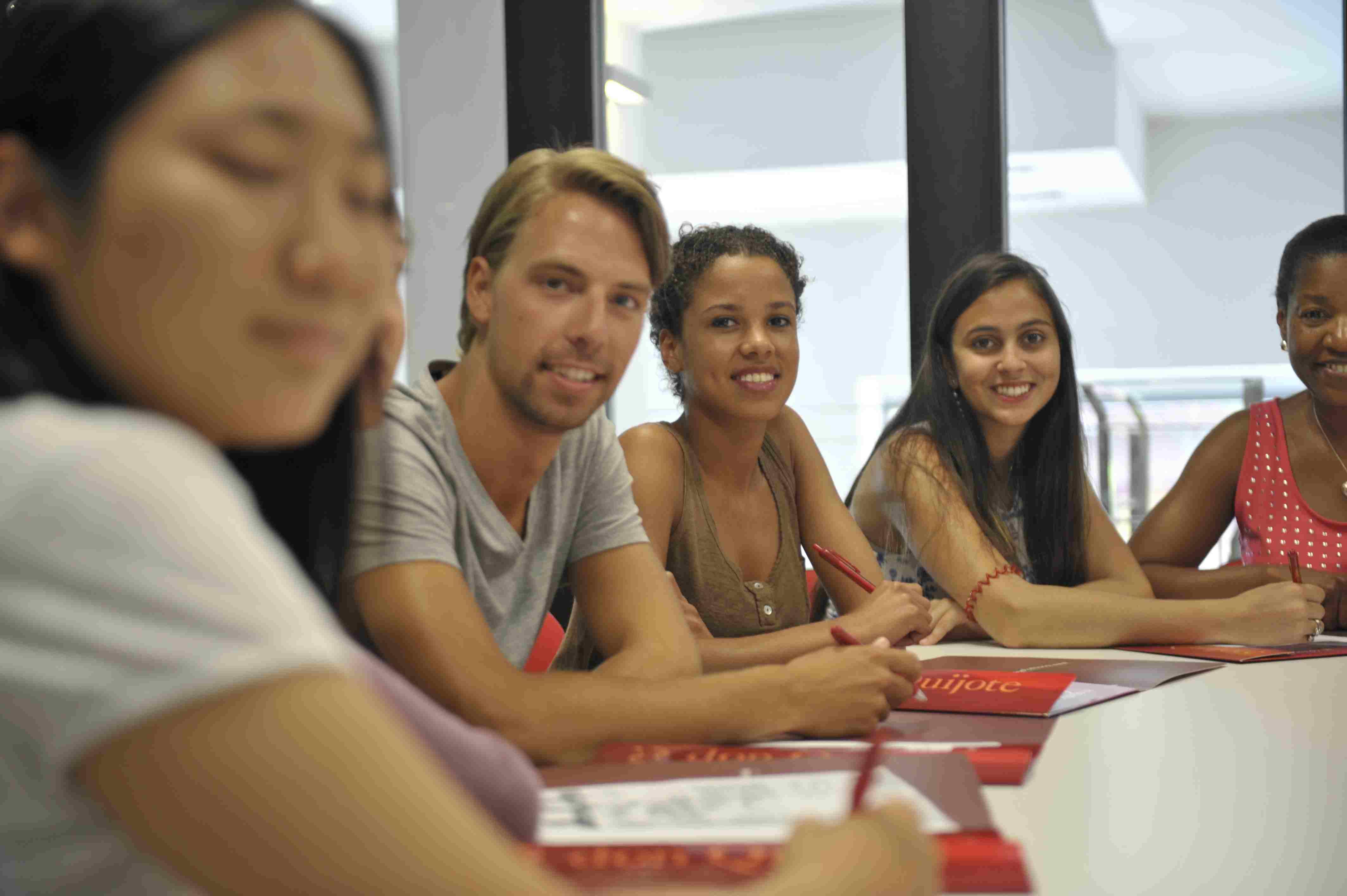 Learn spanish in classroom