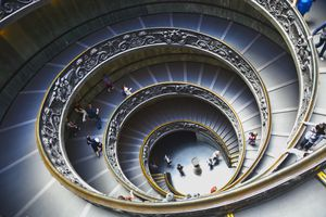 View of the Spiral Staircase at the Vatican