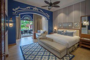 Indulgence Villa room with plunge pool at the Taj Exotica Resort in Goa