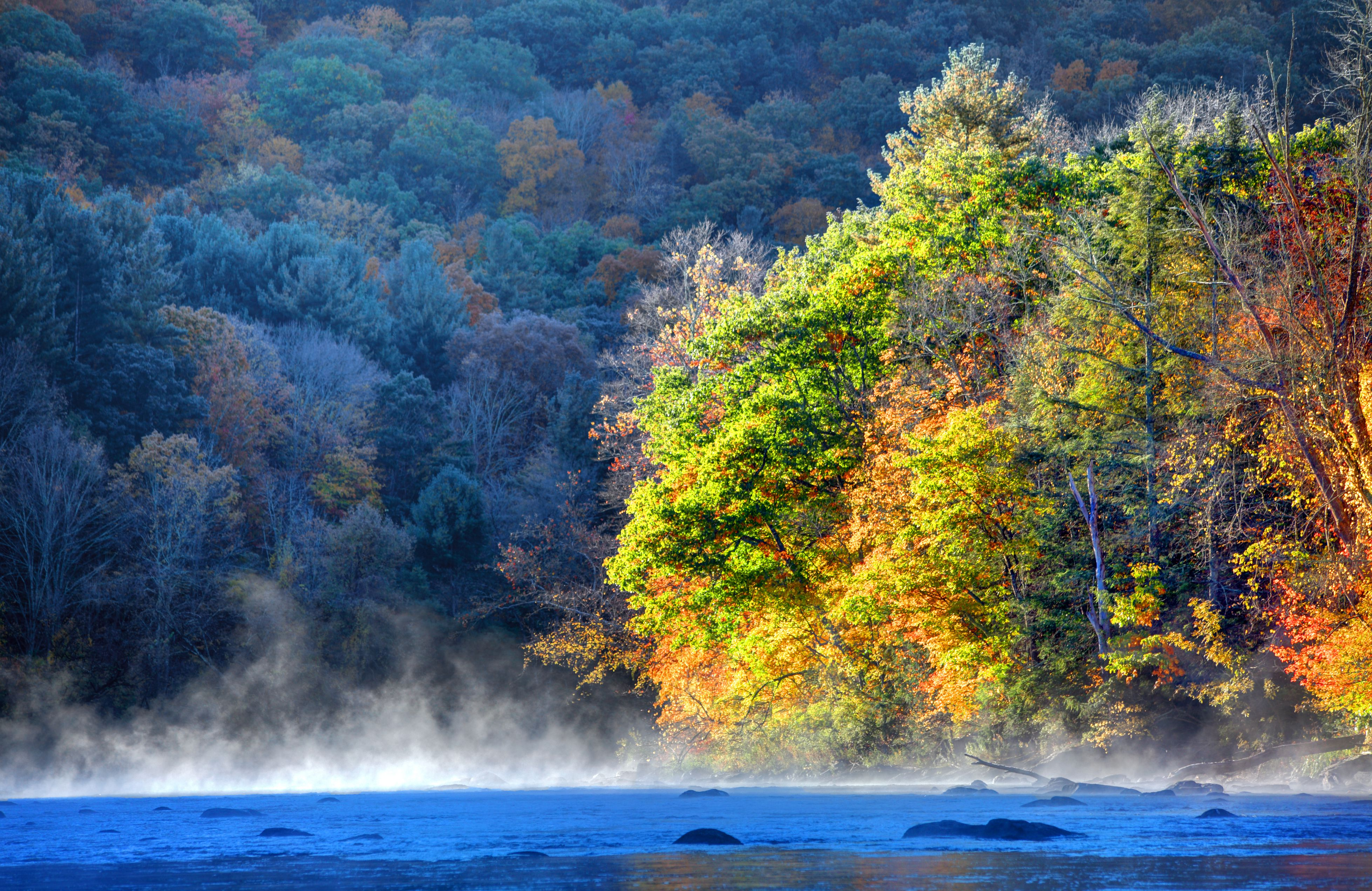 Autumn on the Housatonic River in the Litchfield Hills of Connecticut