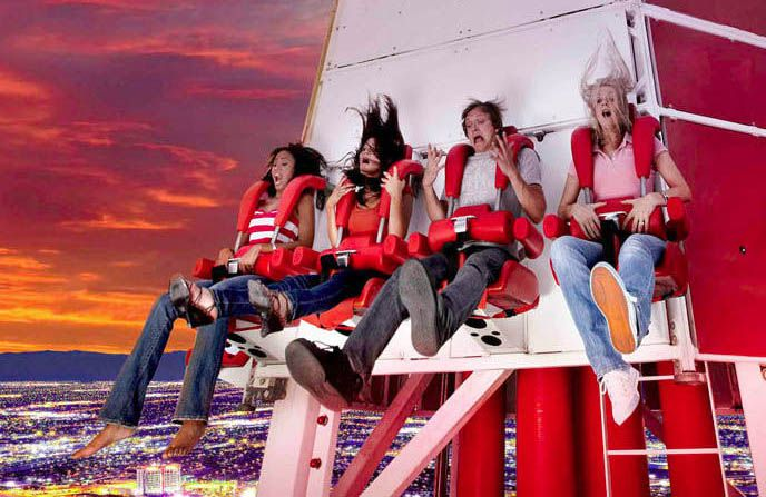 The Big Shot ride at The Stratosphere in Las Vegas