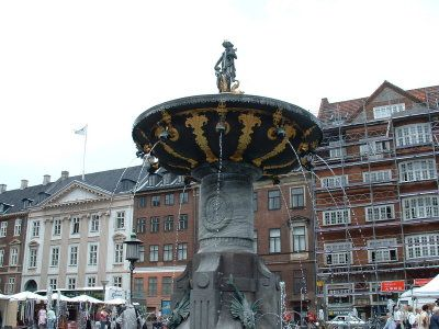 Fountain of Charity in the Old Square of Copenhagen, Denmark