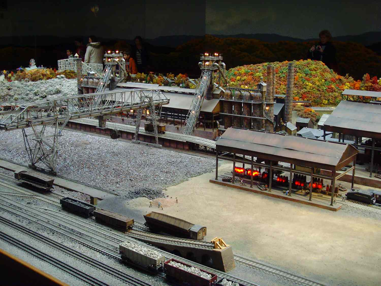 A steel mill replica at the Carnegie Science Center in Pittsburgh