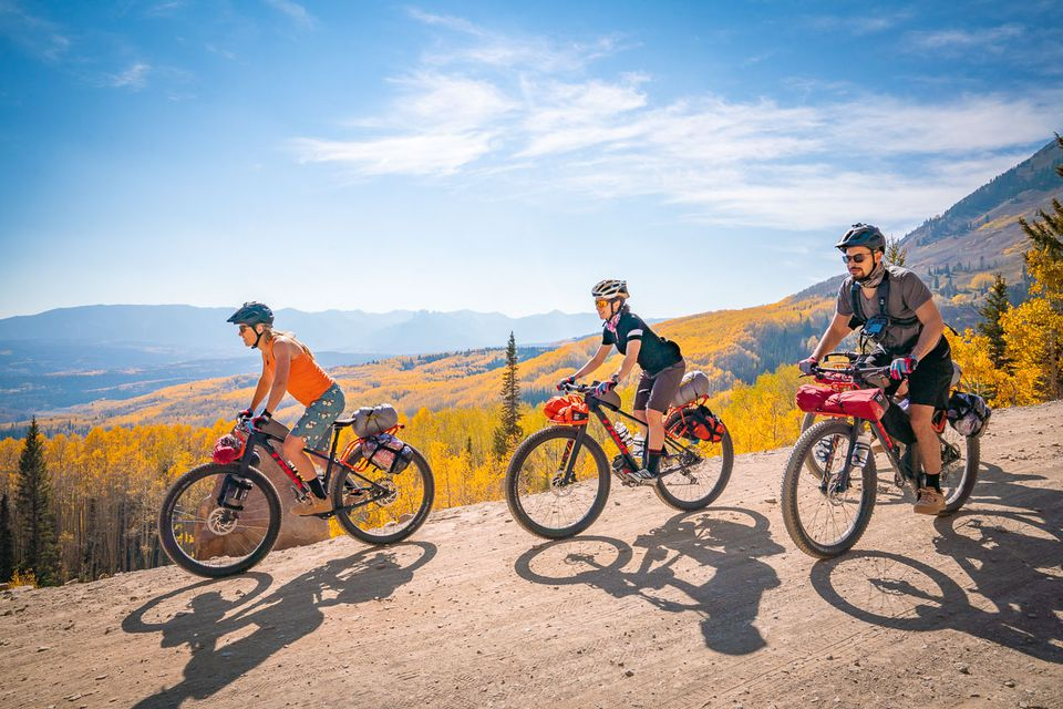 group of bikers on a multi-sport trip