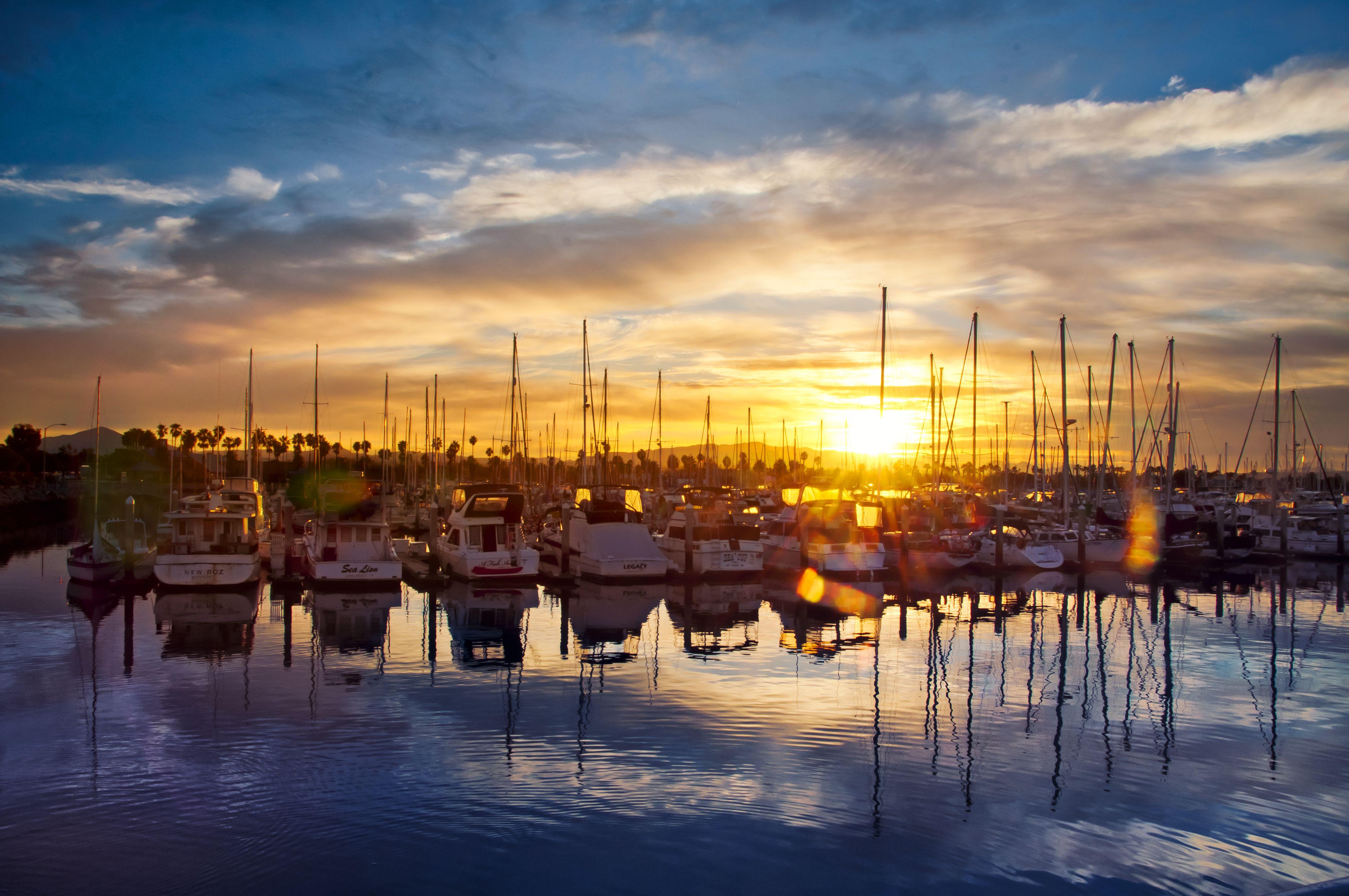 Sailboats & Sunrise; Chula Vista Marina