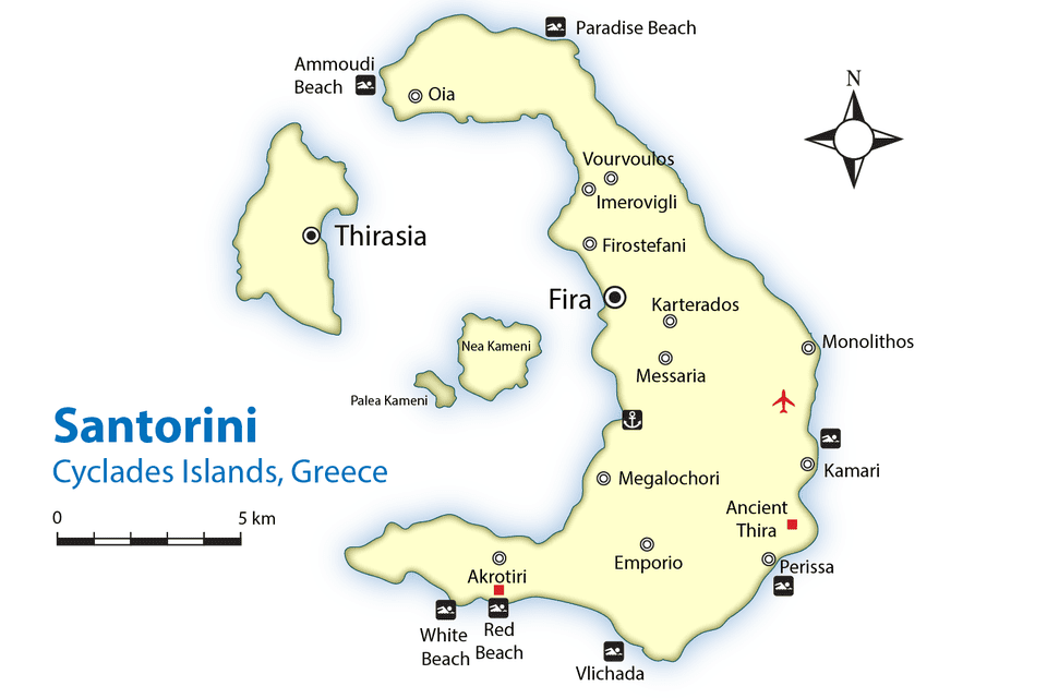 Image result for map of santorini