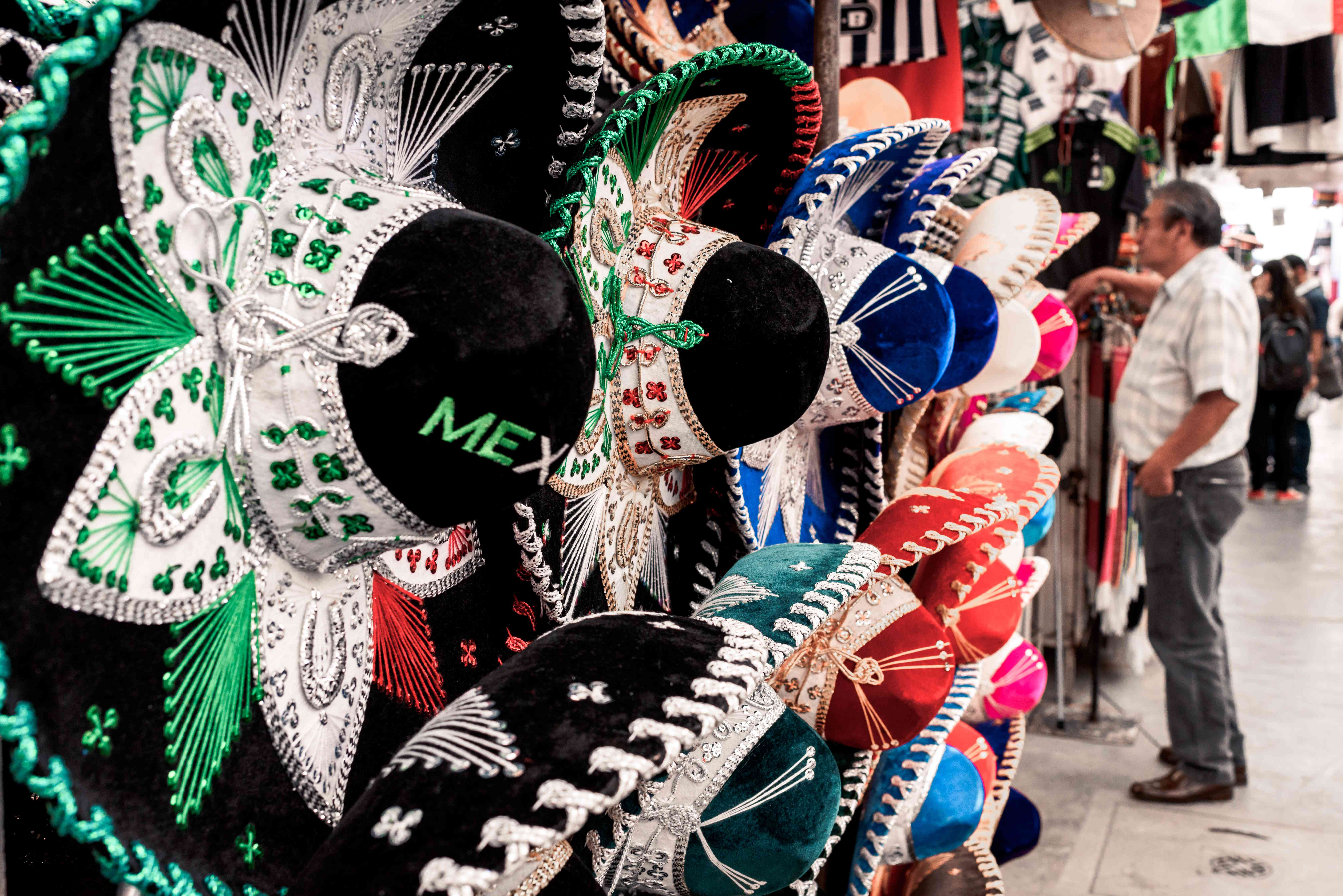 Colorful mariachi hats for sale