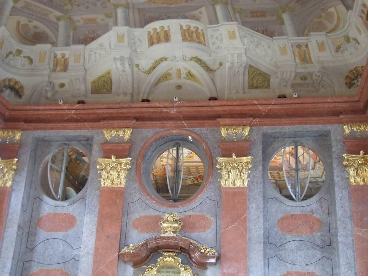 Reception Room Pillars at Melk Abbey