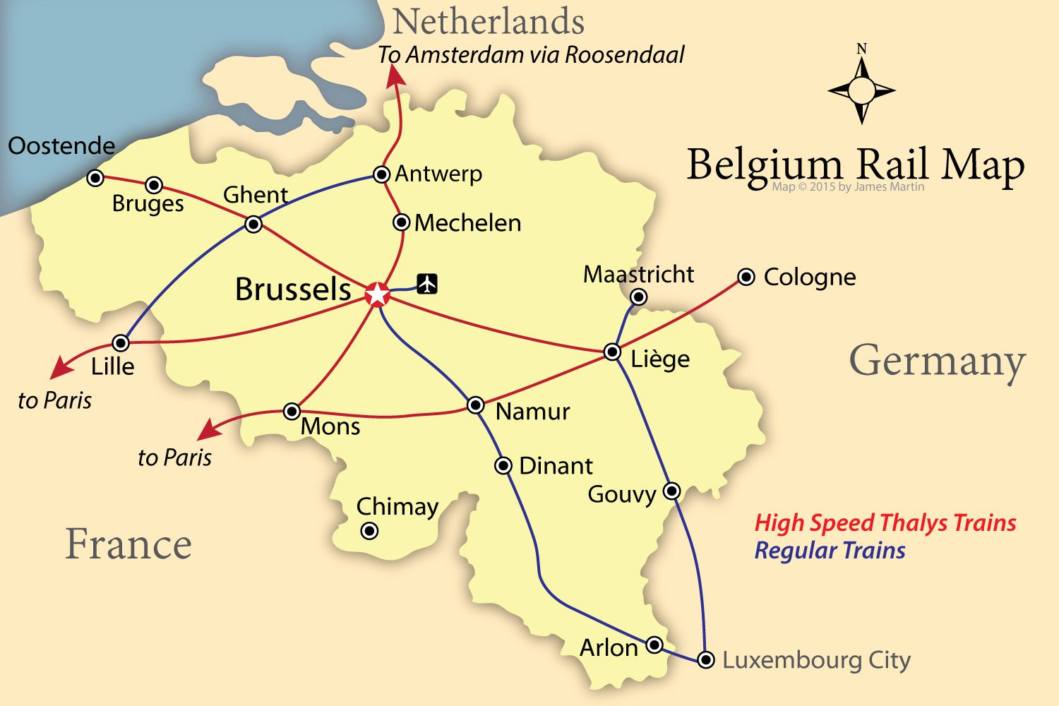 Train Map Belgium How to Get Around Belgium Like a Local