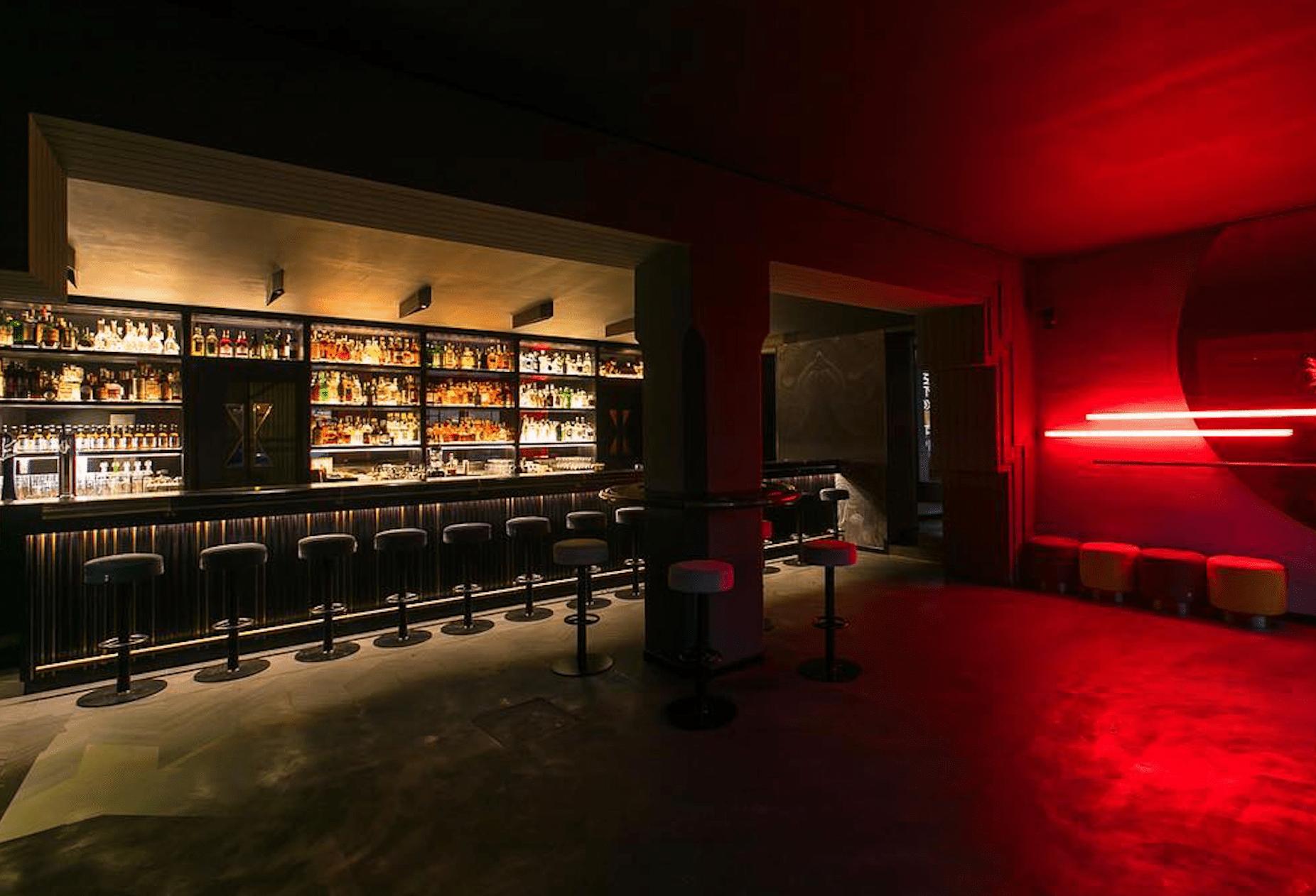 Blade Runner-inspired interiors at Drink Kong