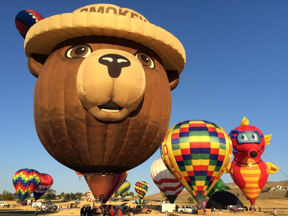 Smokey Bear Hot Air Balloon at the annual Great Reno Balloon Race