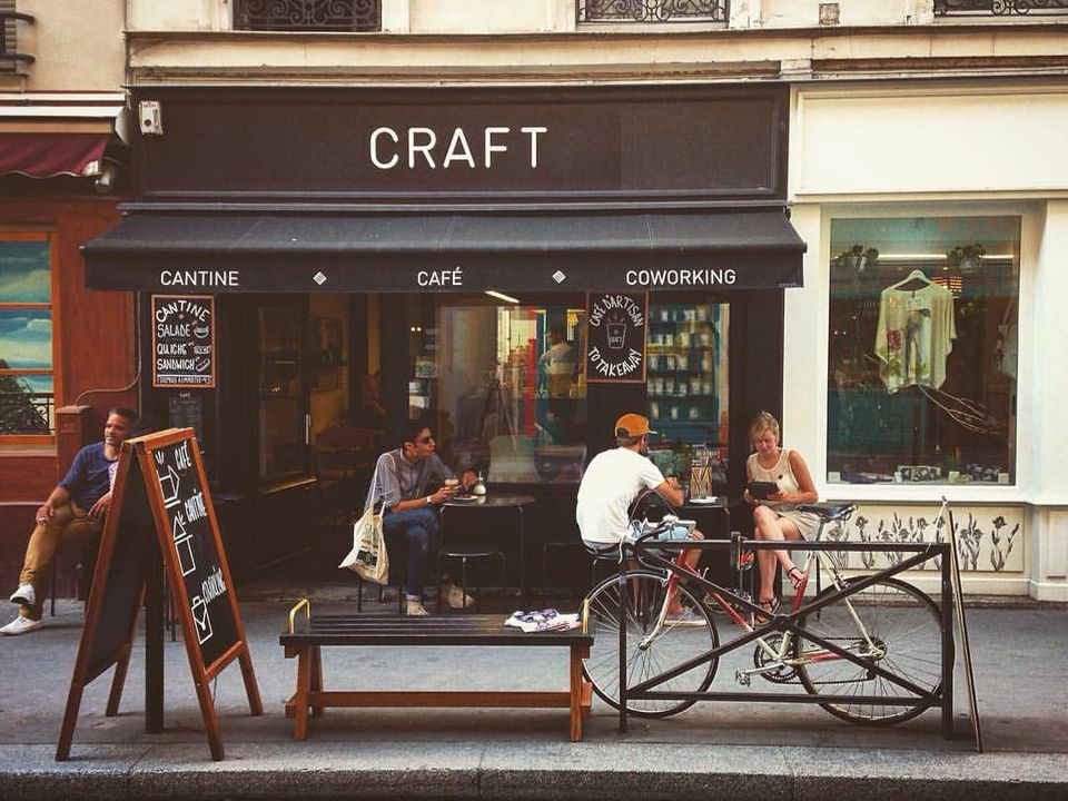 Exterior of Cafe Craft in Paris
