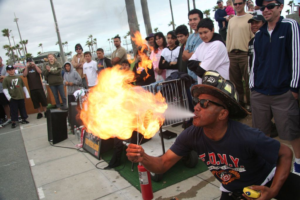 Fire breather at the boardwalk
