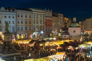 Christmas Market in Market Square, Krakow