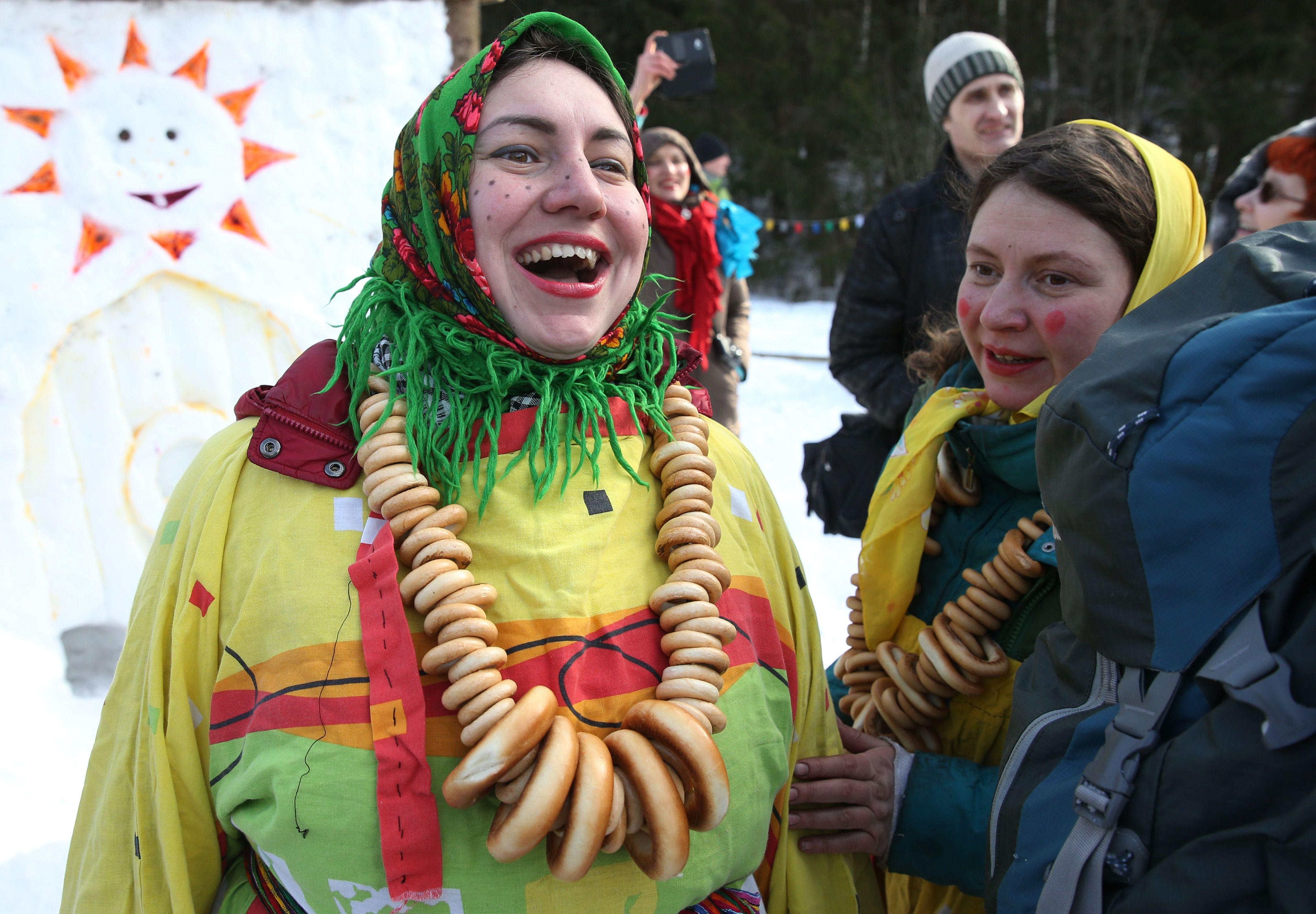 Maslenitsa celebrated in Russia