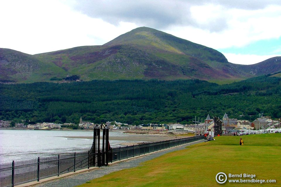 The Mountains of Mourne, sweeping down to the sea at Newcastle in County Down.
