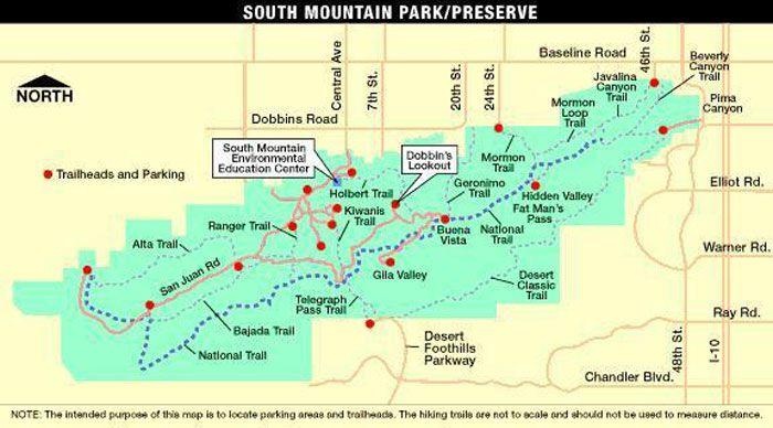 South Mountain Park and Trails on trail map print, trail map design, calendar pdf, globe pdf,