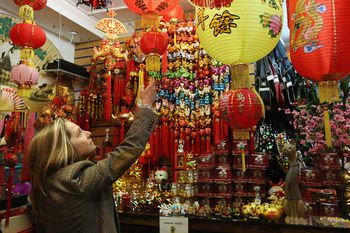 woman planning a chinese new year theme party