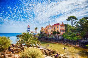 Lighthouse Farol de Santa Marta, Cascais, Lisbon area, Portugal