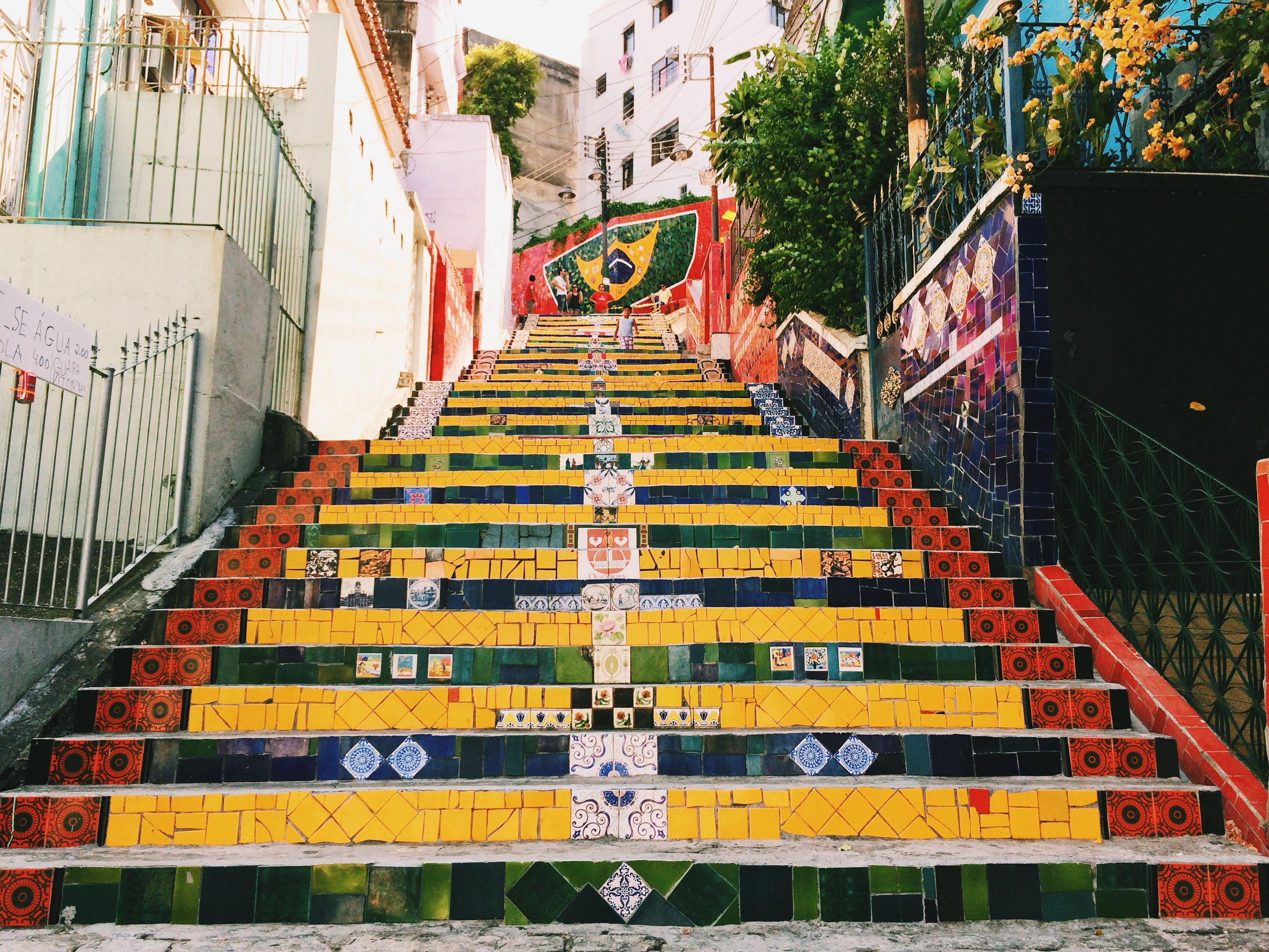 Escadaria Selaron (Selaron Steps) in Lapa district, Rio De Janeiro, Brazil