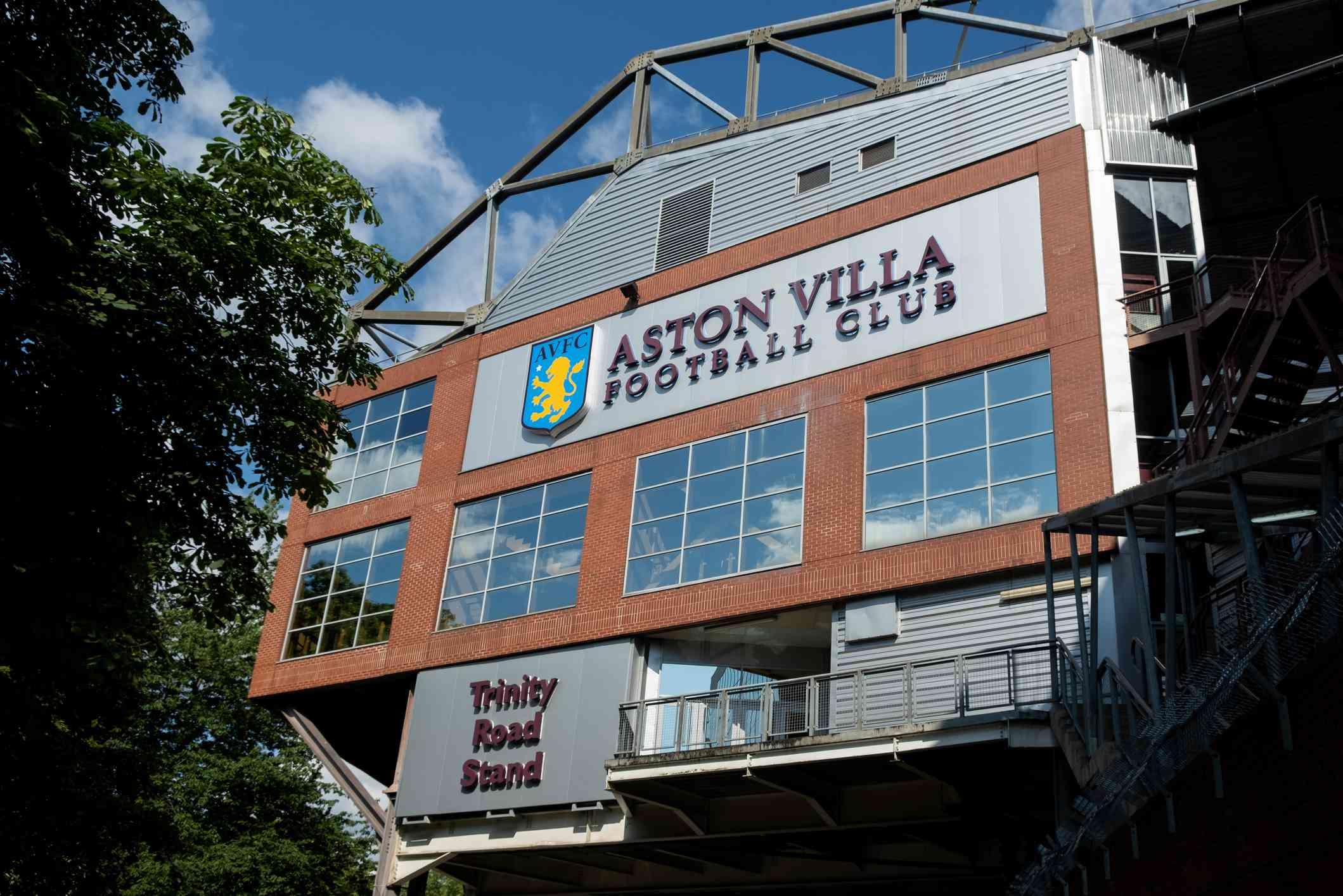 Aston Villa stadium in Birmingham